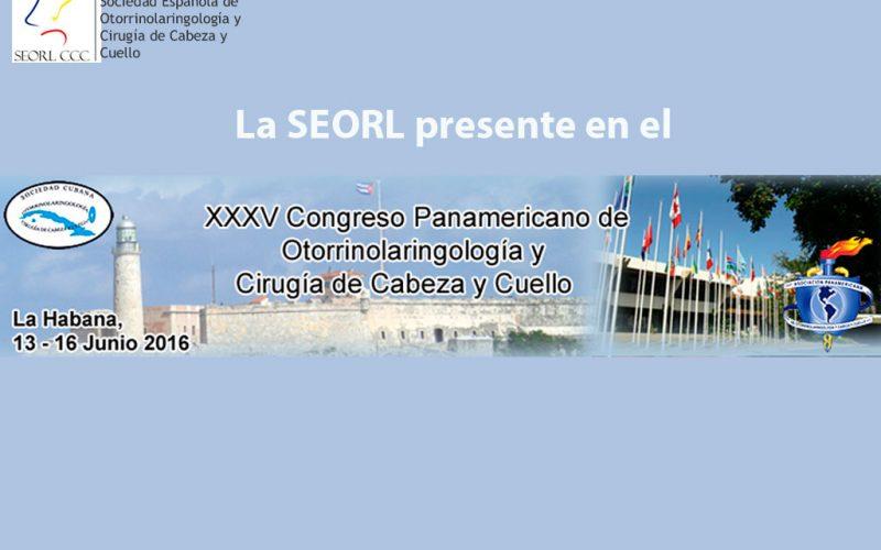 Médicos de la SEORL participan en el Congreso Panamericano de Otorrinolaringología
